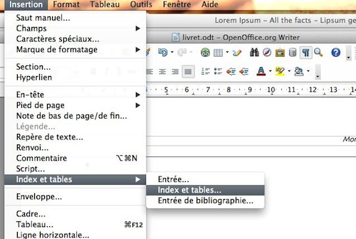comment faire  u00e8me sur open office